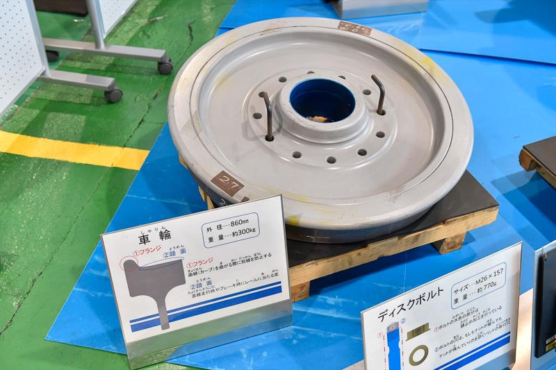車輪。巨大なパーツゆえ重量は300kgにもなる
