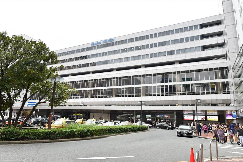 JR博多駅の新幹線コンコースは、筑紫口側にある