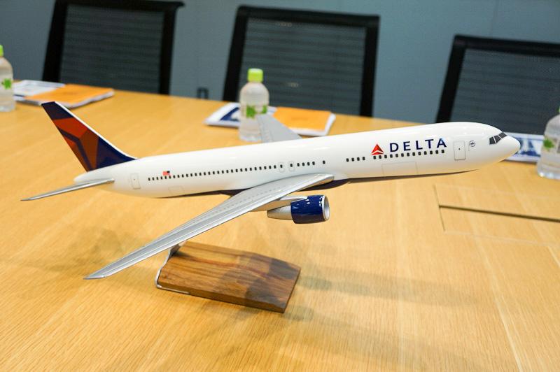 デルタ航空のプレーンモデル