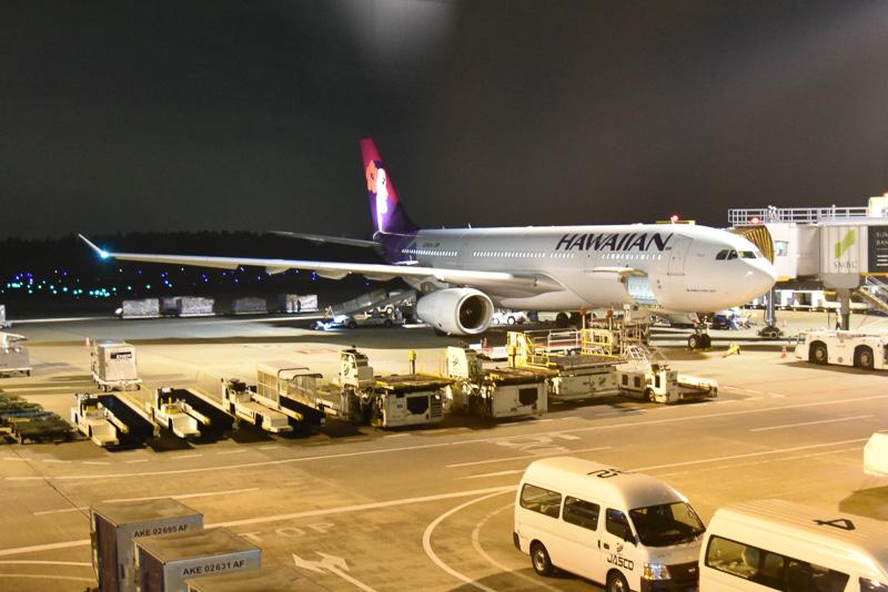 成田~ホノルル便に投入されているエアバス A330型機