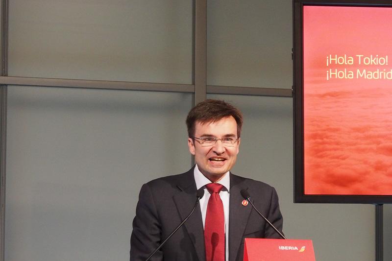 イベリア航空 最高統括営業責任者 マルコ・サンサビーニ氏