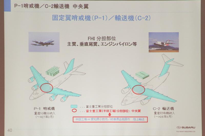 P-1、C-1のパーツもスバルで製造している