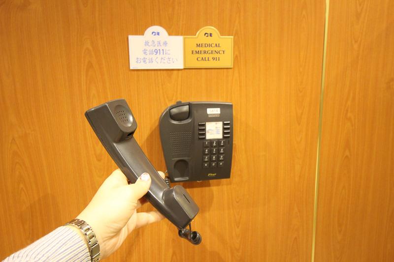 船内各所に配置されていた内線電話