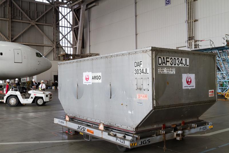 ULD部門で使われるLD-2規格のコンテナ