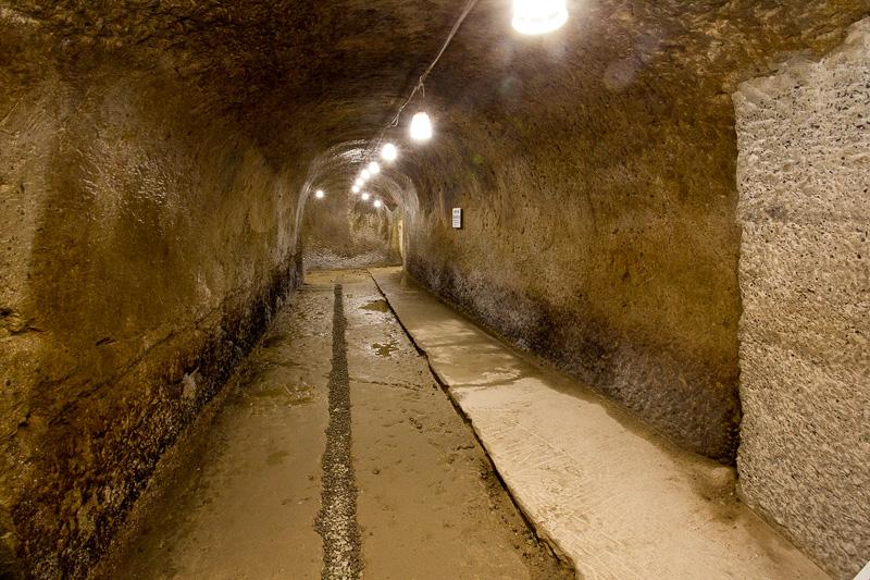 洞内は舗装などないので見学の際は歩きやすい靴を用意。こちらの運営や案内も有志の方で行なっている。