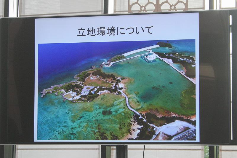 事業スキーム、ホテル建設場所についての説明などを画像で紹介した