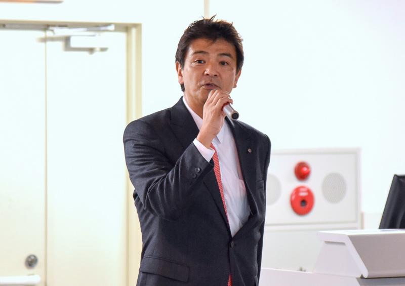 空港企画部・部長の宍倉幸男氏が開会式で挨拶を行なった
