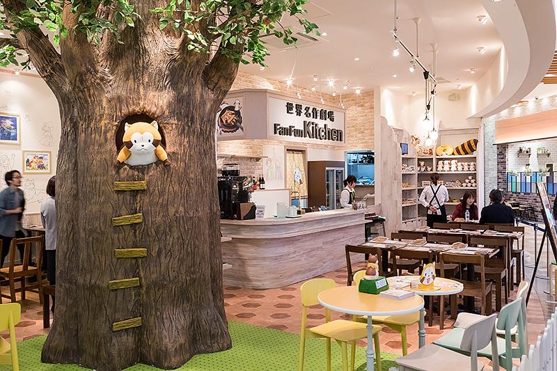 ラスカルが住む木のオブジェ