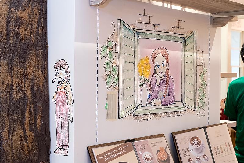 内覧会前日にアニメーターが描いたイラストも随所に
