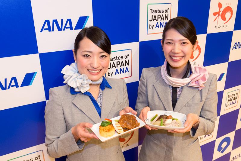 記者発表会には和歌山県出身のANA関西空港支店 旅客部所属のCAも参加した