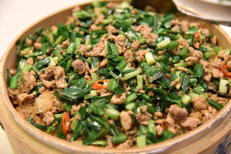 ほかほかの台湾おこわ。食事でも一番人気だった