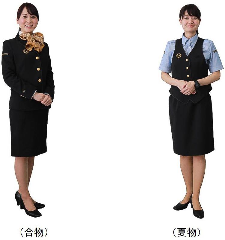 JR九州の新制服「女性接客制服(駅・旅行支店等)」