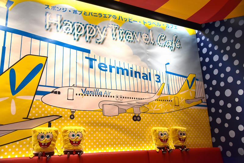 バニラエアが発着する成田国際空港第3ターミナルのイラストも