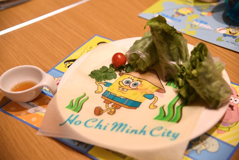 「スポンジ・ボブの野菜たっぷり生春巻き~ベトナムののどかな風景~」