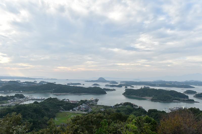 展望台からの風景。画面中央に見えている橋は4号橋の前島橋