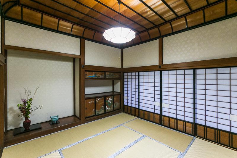 「書院」1864年に造られ、明治天皇が1869年の東京遷都の際と1878年に休憩した