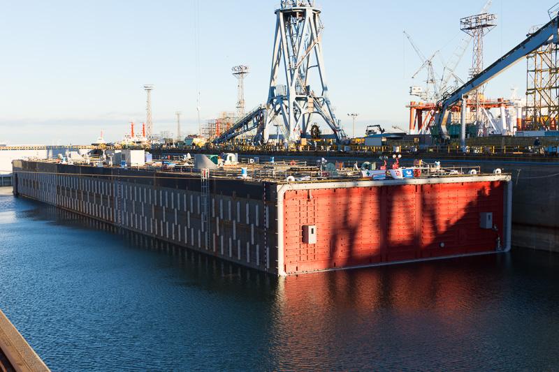 東京港臨港道路南北線の海底トンネルに使用される沈埋函
