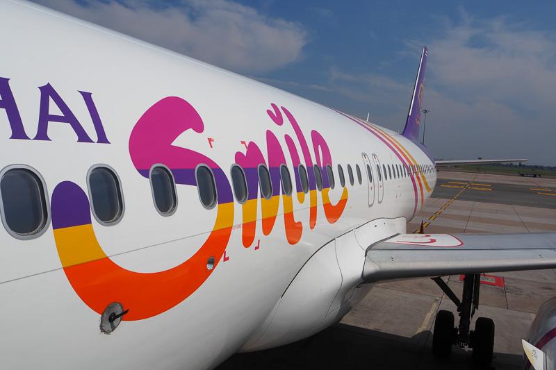 今回バンコク~チェンライで利用したタイスマイル航空