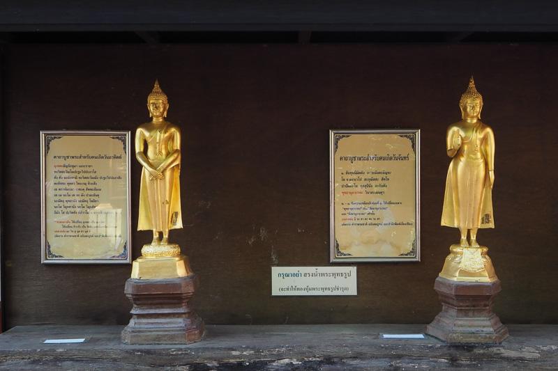 日曜日の仏像(左)と月曜日の仏像(右)