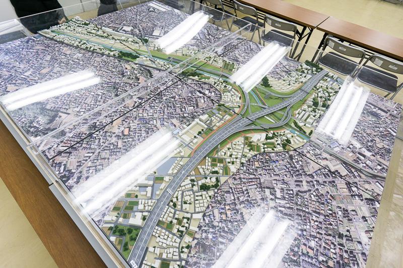 東名JCT付近の模型