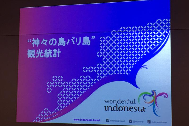 インドネシア・バリを訪れる観光客の傾向から説明が始まった