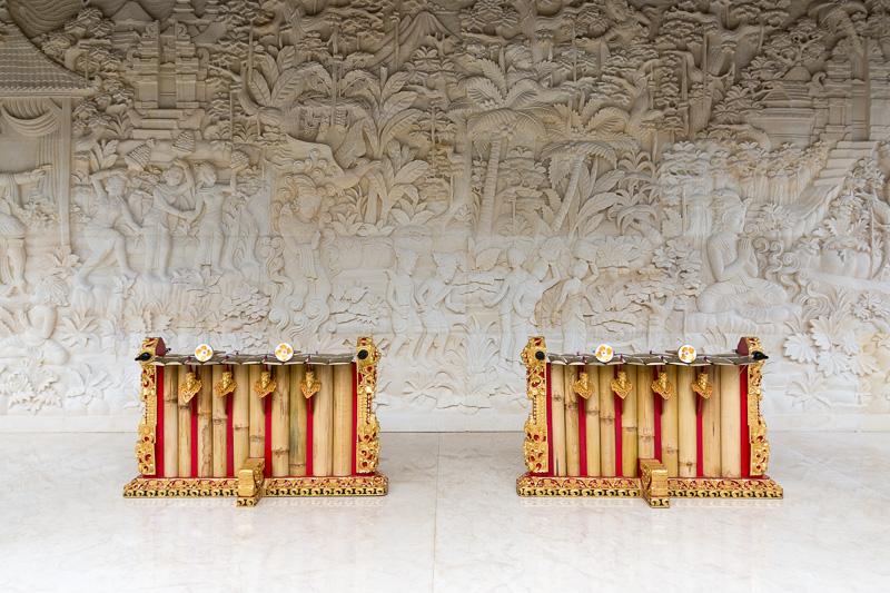 バリの伝統的な打楽器「ガムラン」。今後、ガムランを使った演奏会なども予定しているそうだ
