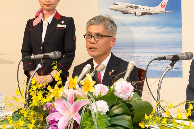 日本航空株式会社 代表取締役副社長 藤田直志氏