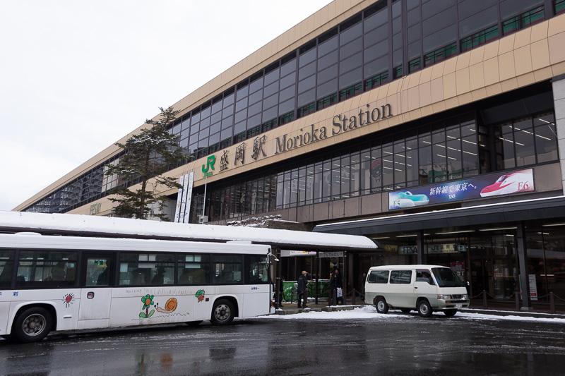 東北地方の主要駅の一つ、JR東日本の盛岡駅