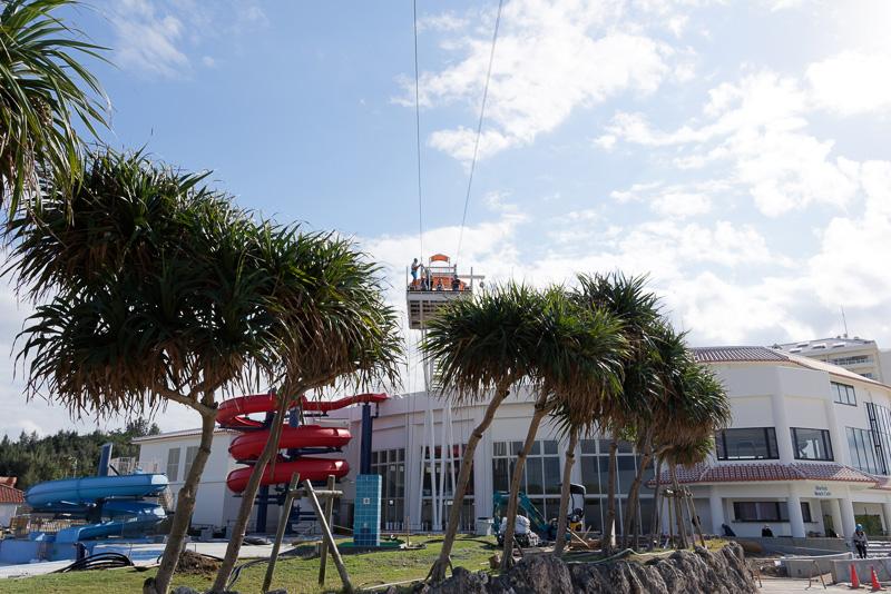 「シェラトン沖縄サンマリーナリゾート」に併設された「PANZA Okinawa」の専用デッキ