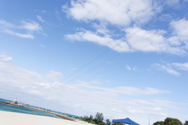 上空を横切るMegaZIPのワイヤーロープ