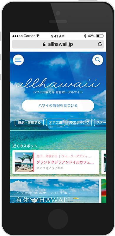 公式ポータルサイト「allhawaii」イメージ