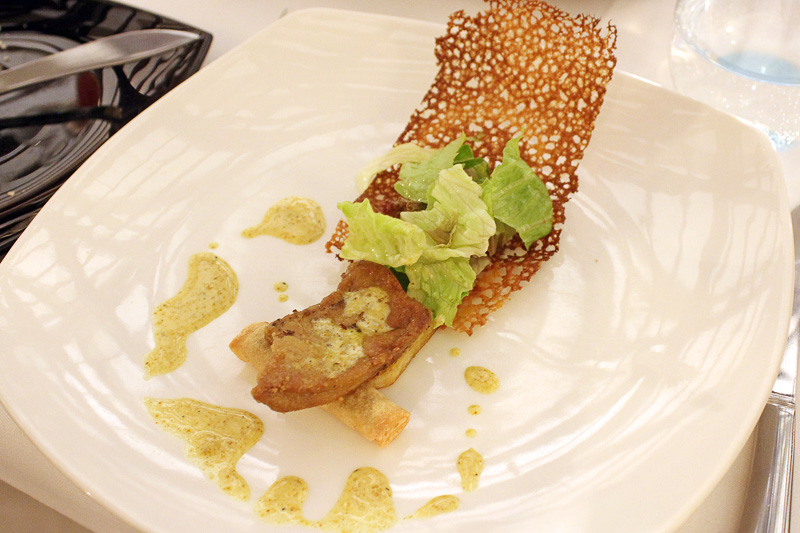 さわやかな辛さの「カンボジア風フォアグラ(Foie Gras『Cambodian Style』)」