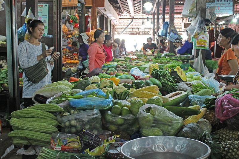 大量に積まれた種類豊富な野菜