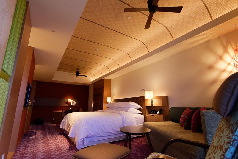 キングサイズベッドの客室「オーシャンキング」