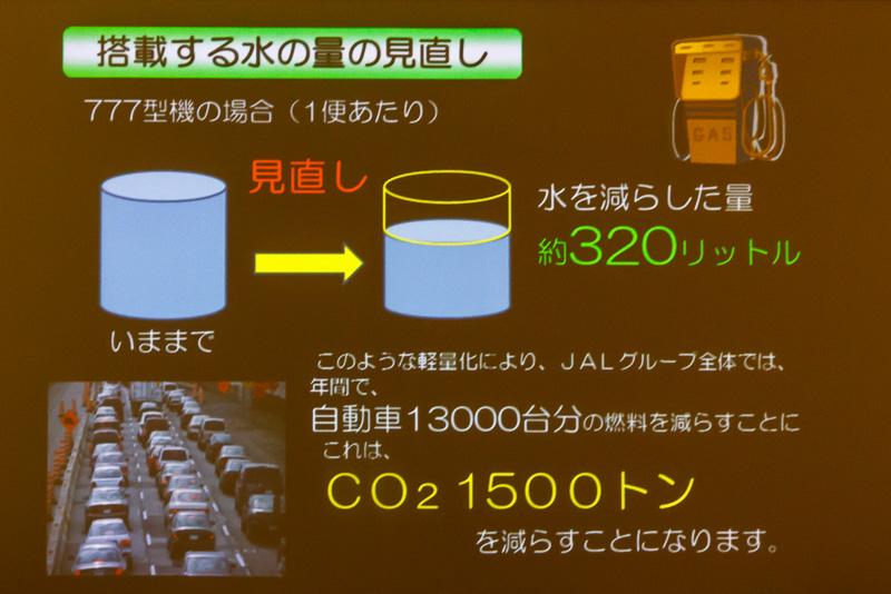 搭載する水の量を見直すことで軽量化を図る