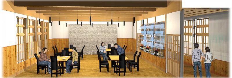 萩・明倫学舎の本館にあるレストランでは、萩の名店「割烹千代」がリーズナブルな価格で料理を提供する