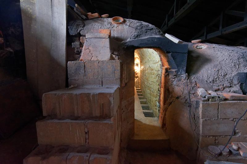 陶芸工房ふじが使用している小部屋。なお、一般客向けの窯の見学会などは行なっていない