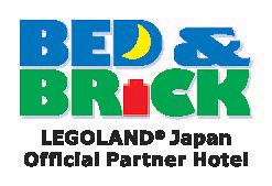 「BED&BRICK LEGOLAND(R)Japan Official Partner Hotel」のロゴ