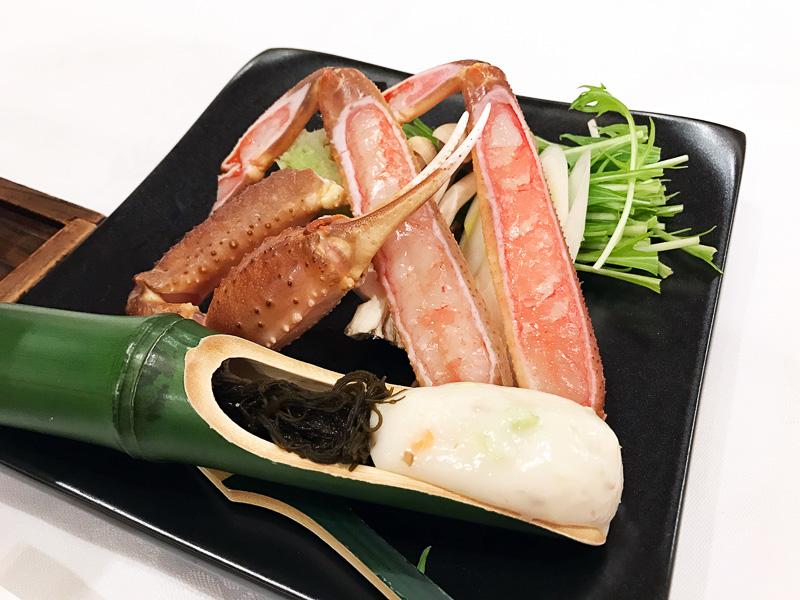 こちらは海鮮小鍋。またしてもカニ!