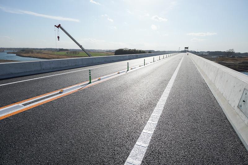 鬼怒川橋本線上。久喜白岡JCT方面を見る