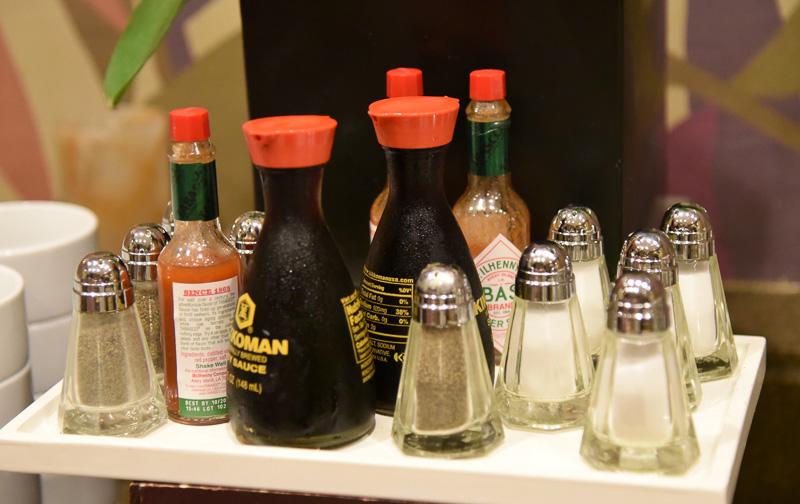 日本人向けに醤油が用意されているのもありがたい