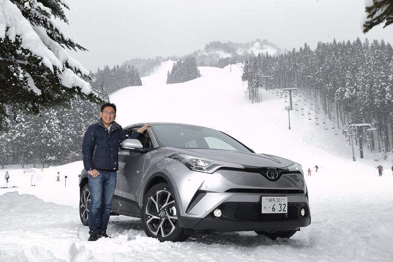 トヨタ自動車の新型コンパクトSUV「C-HR」に乗って、湯沢でスキーを楽しんでみた!