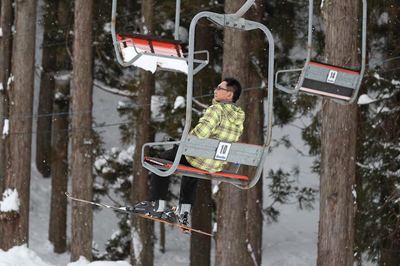 用具をレンタルして、スキーをすることに