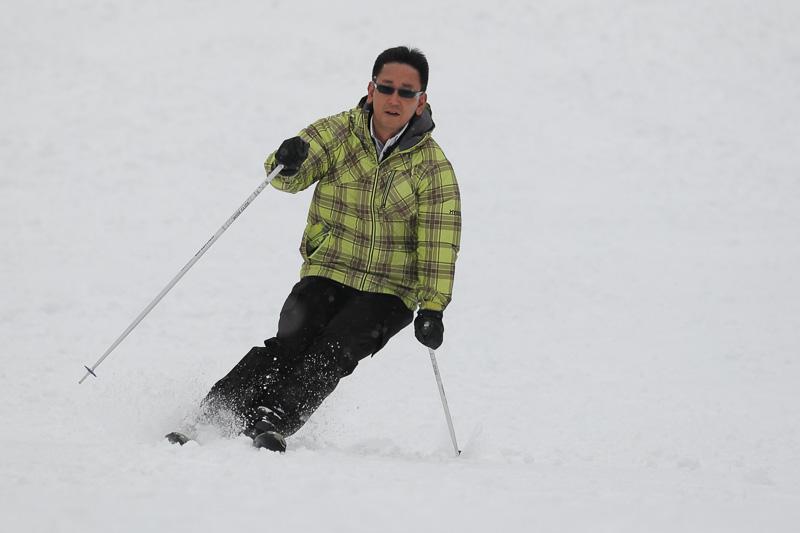 5年ぶりとなるスキーを楽しむ筆者