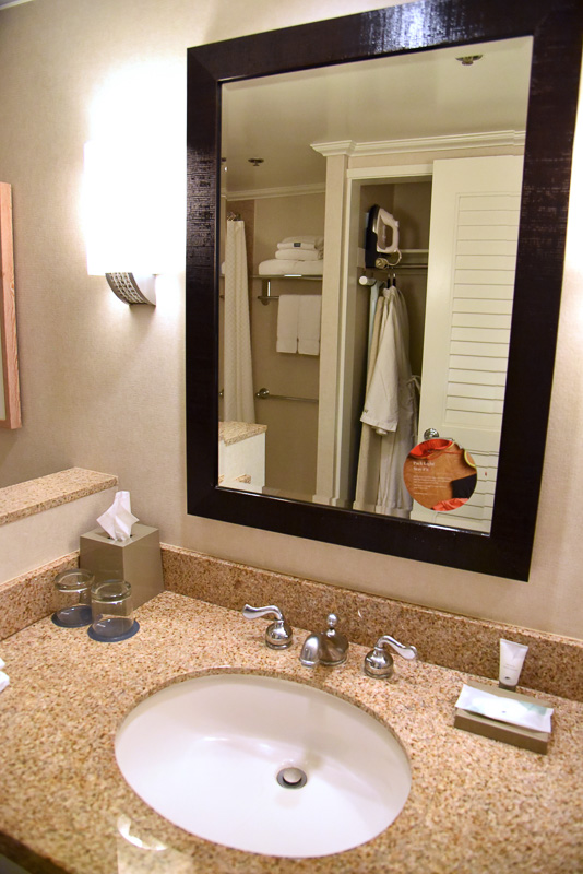 バスタブ付きのバスルームには、ウォシュレットと洗面台