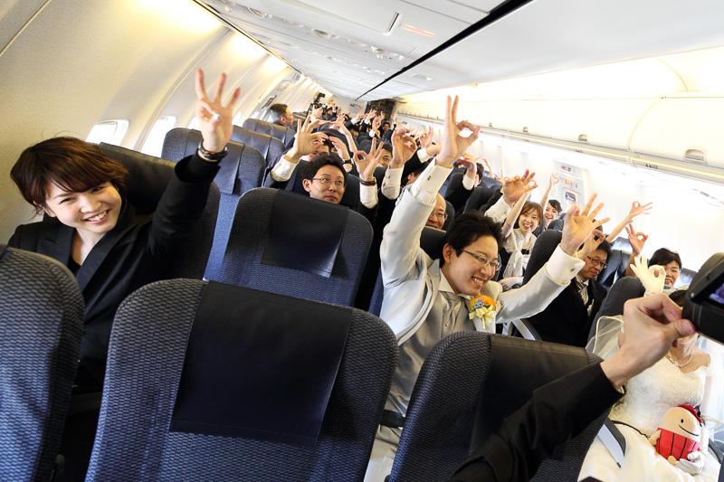 搭乗者が機長にゴーサインを出し出発!