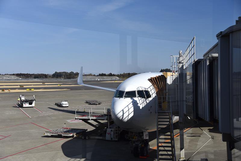 搭乗したJAL785便。ボーイング 767-300ER型機で「新・間隔エコノミー」を採用した「JAL SKY SUITE 767」