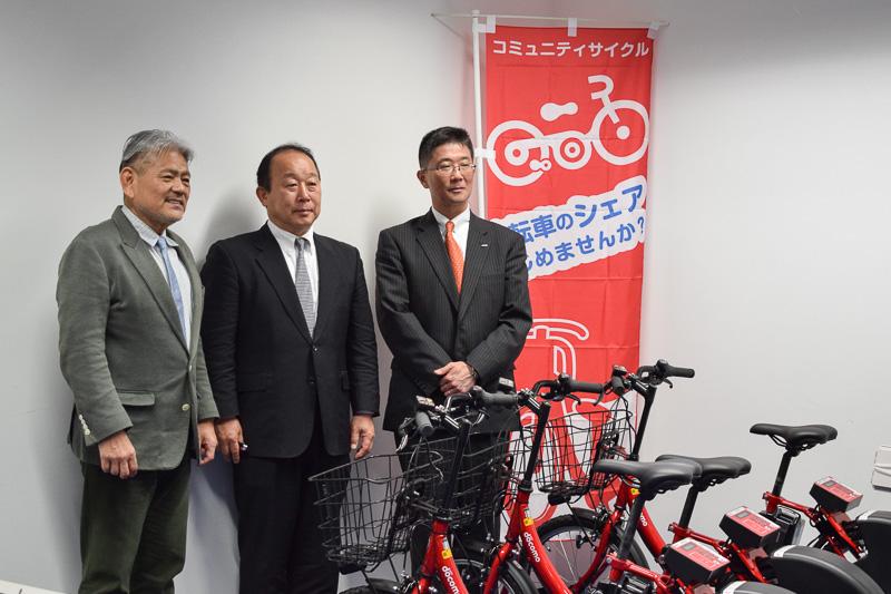 サイクルシェアリングサービス「沖縄バイクシェア」の実証実験が、3月6日に那覇市内でスタートした