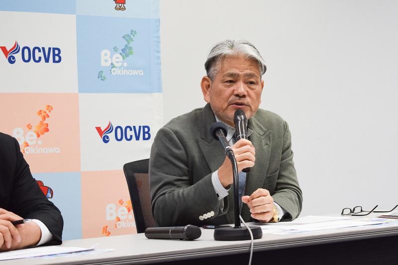 沖縄観光コンベンションビューロー 会長 平良朝敬氏
