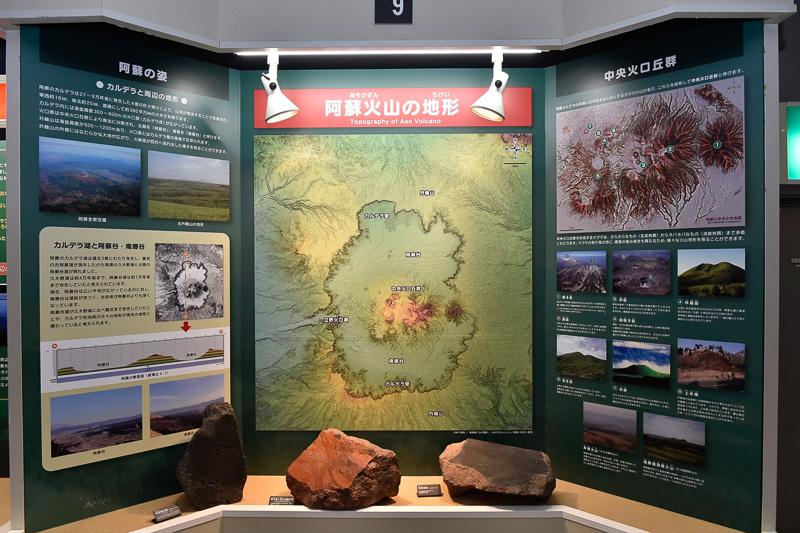阿蘇火山の地形の説明図
